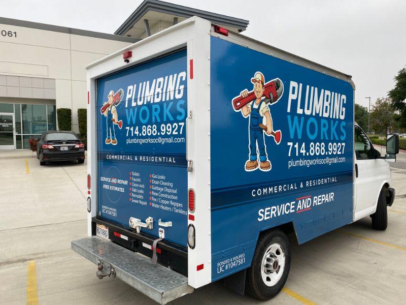 Plumbing Van Graphics in Orange County