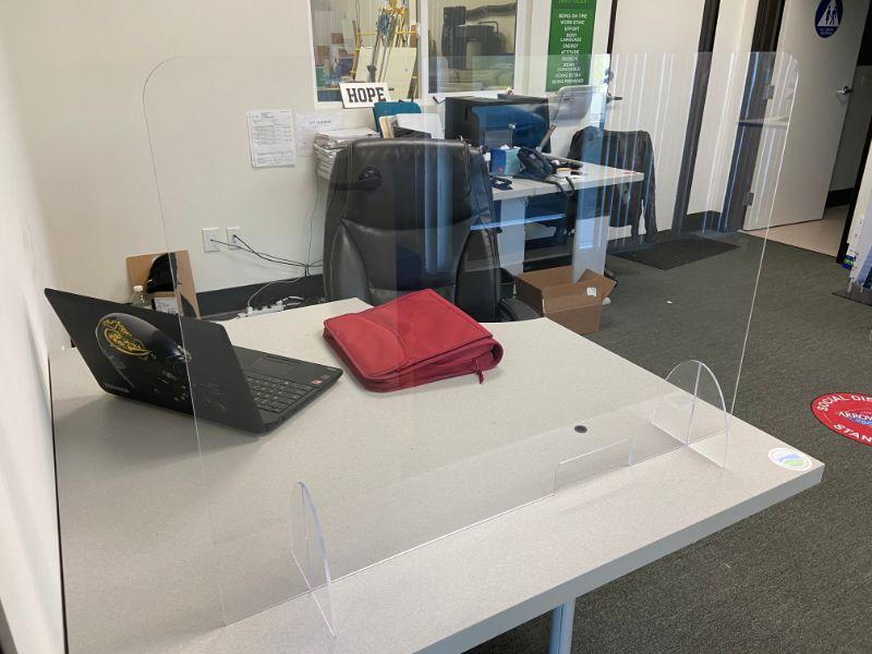 Plexiglass Desk Shields for COVID-19 Protection in Orange County California