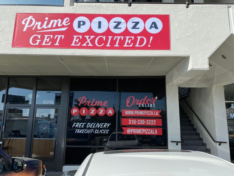 Eye Catching Window Graphics Advertise for Los Angeles CA