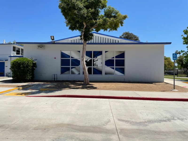 window graphics for schools in Orange County CA