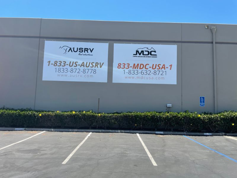 exterior wall graphics in Orange County CA
