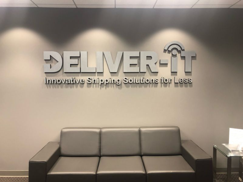 3d brushed metal lobby logo signs in anaheim ca