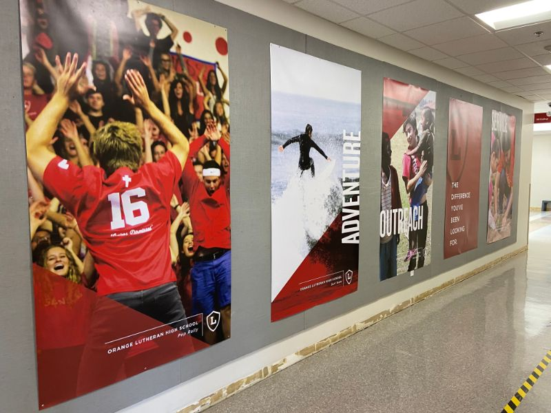 Wall banners for schools in orange county ca