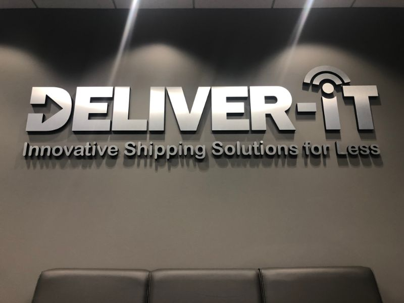 brushed silver metal lobby logo signs in anaheim ca