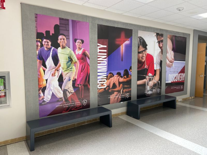 wall graphics and banners for schools in orange county ca