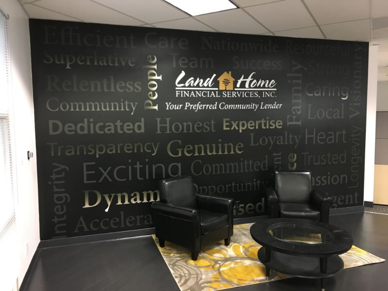 Mission, Vision, and Values Wall Signs for Offices in Orange County CA
