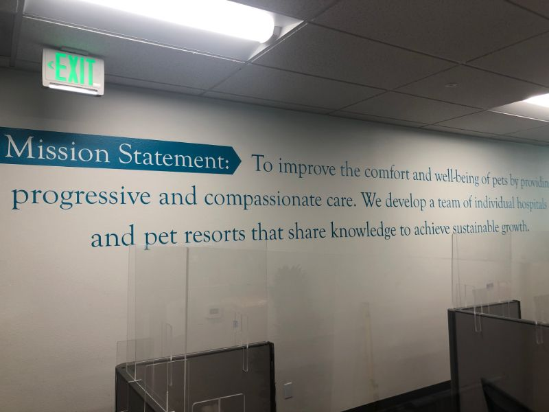 Mission, Vision, and Values Wall Signs for Offices in Orange County CA!
