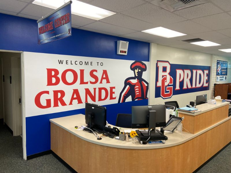 Wall Graphics Transform High School Administration Building in Orange County CA