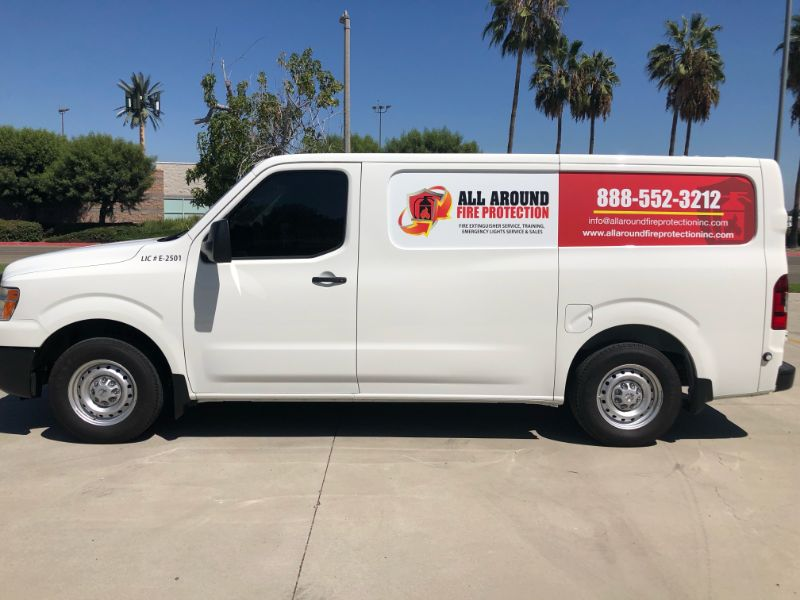 Nissan Sprinter Van Graphics Give Professional Look in Pico Rivera CA