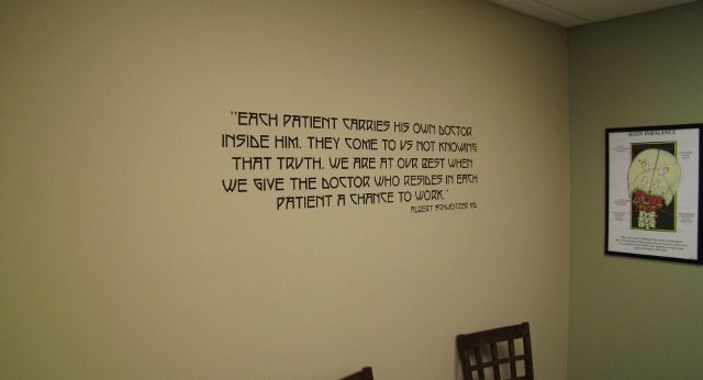 Office Signs Amp Wall Murals For Upper Cervical Chiropractic