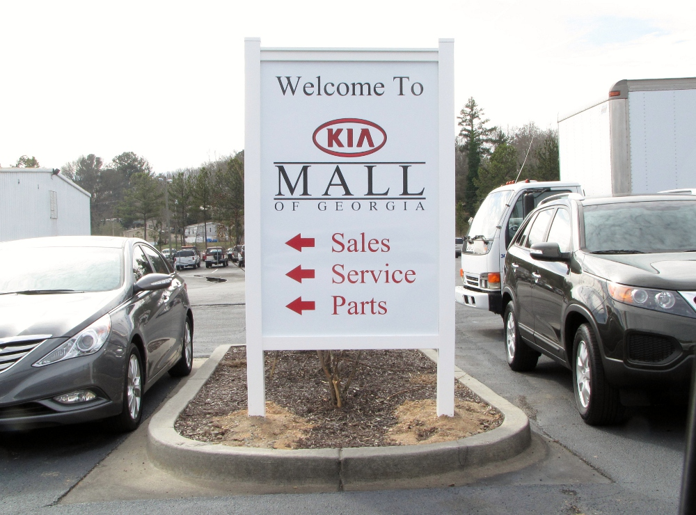 Wonderful Wall Graphics And Post U0026 Panel Sign Project For Kia Mall Of Georgia In  Buford, GA
