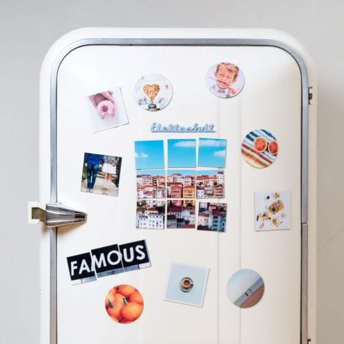 People can decorate their homes with custom printed magnets.