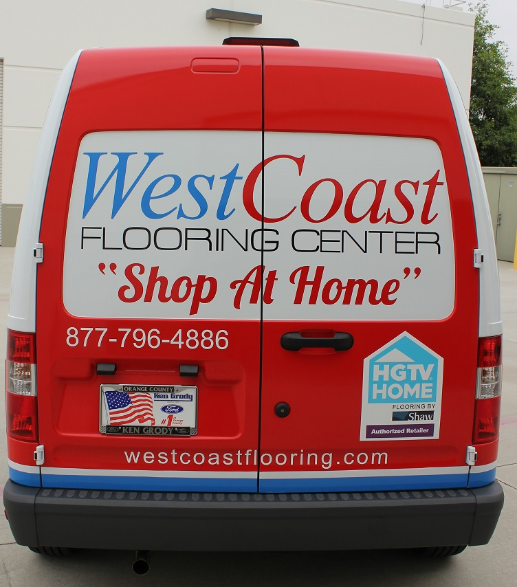 Vehicle Wrap Graphics For West Coast Flooring 39 S Shop At
