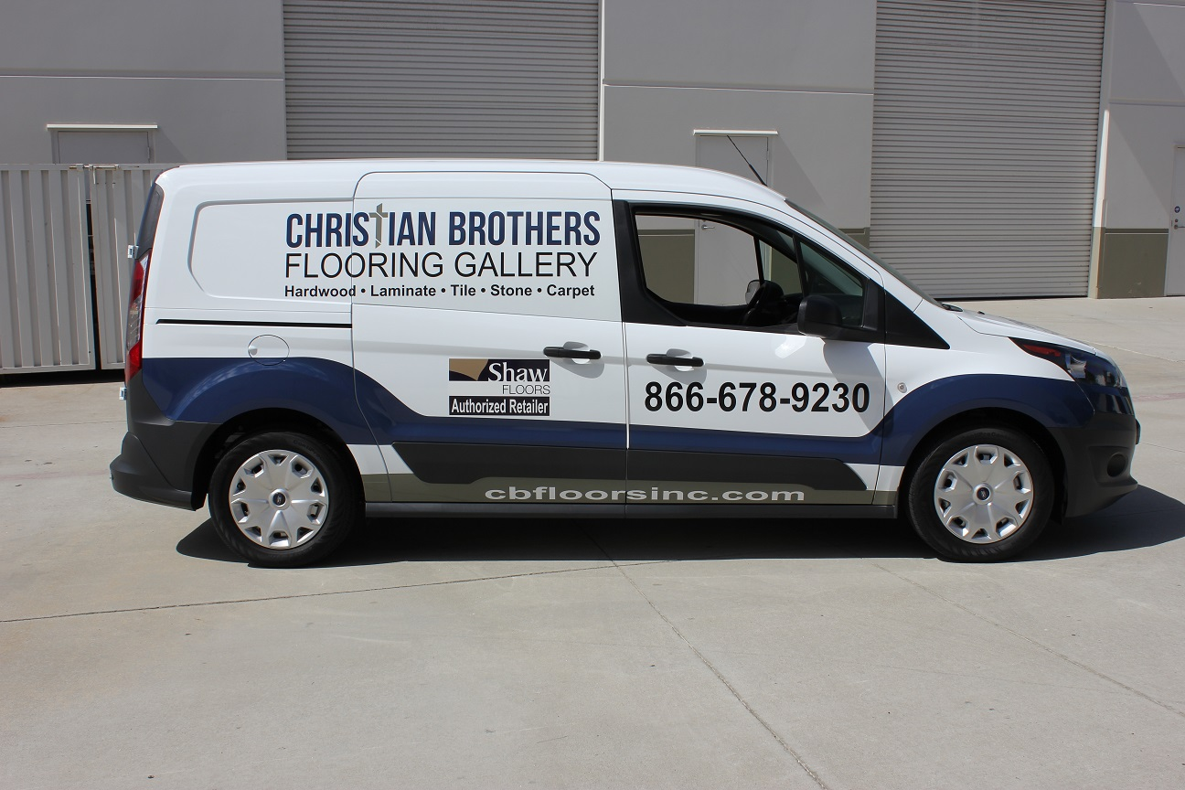 Vehicle Graphics In Vista Ca For Christian Brothers Flooring