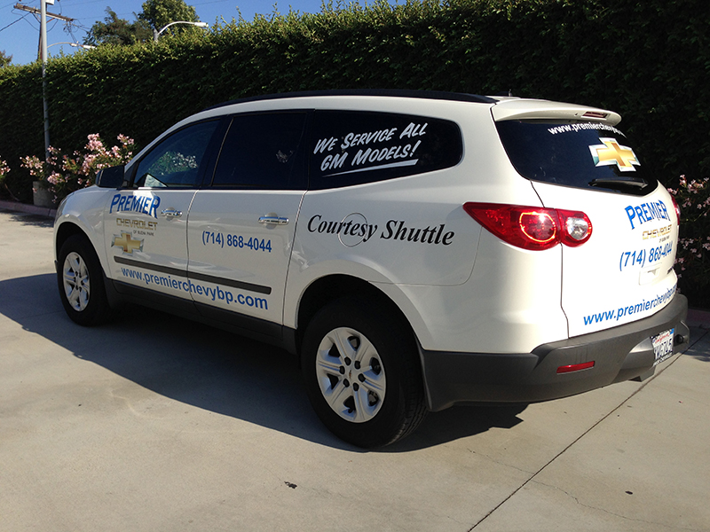 Vehicle graphics for auto dealerships in raleigh nc