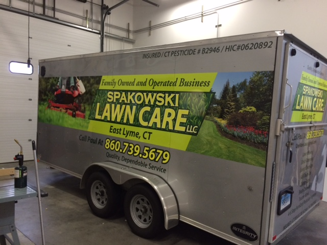 Custom Vehicle Wrap On Two Sided Trailer For Spakowski