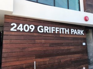 Los Angeles, CA - Building Signs for New Apartment Building