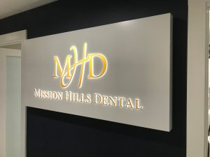 Mission Hills, CA - Illuminated Signage for Medical Office Interior