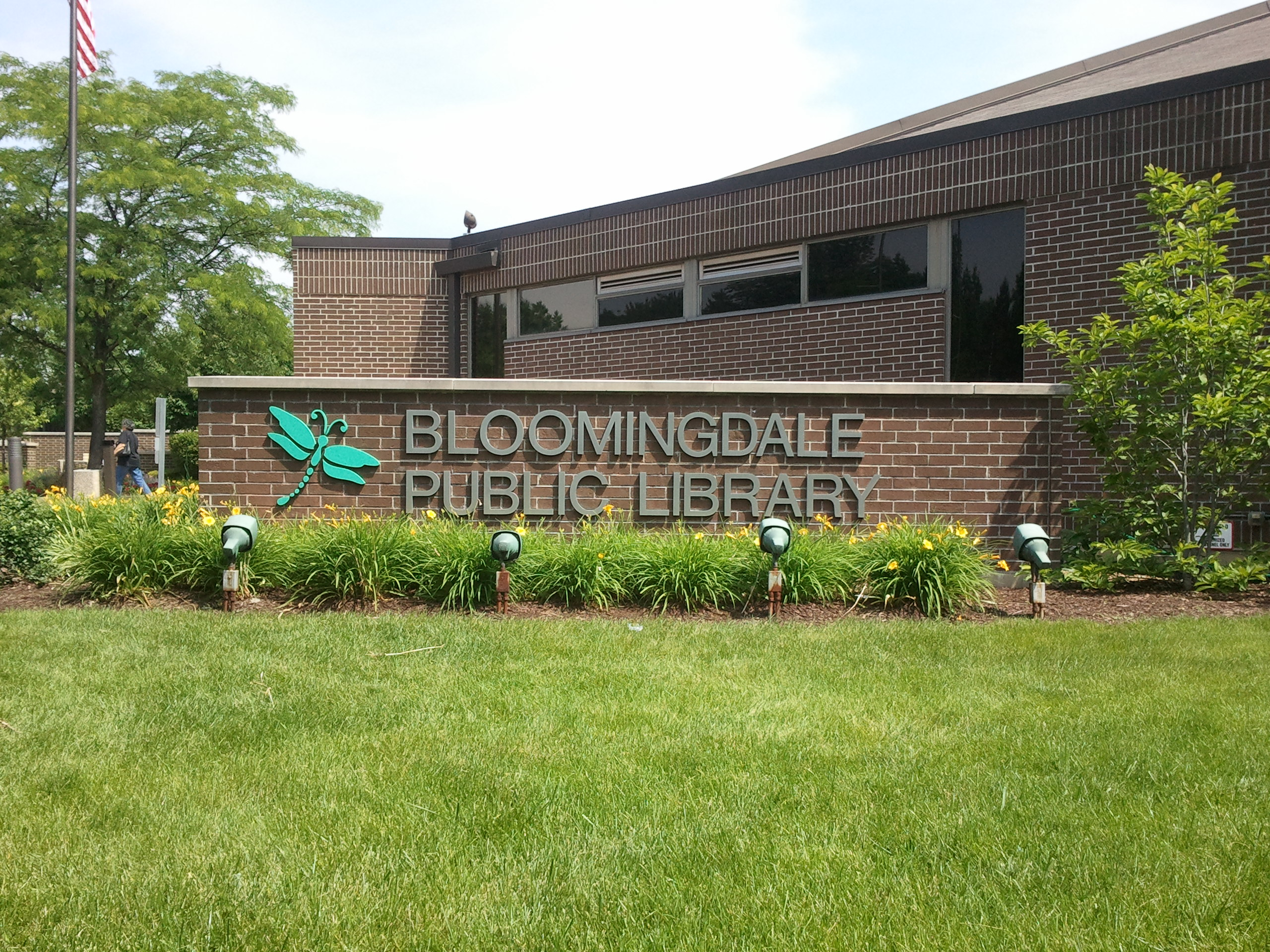 bloomingdale public library earth flag 2016