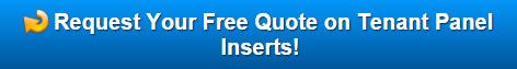 Free quote on tenant panel inserts Danbury CT