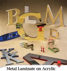 Dimensional Letters - metal laminate Gemini