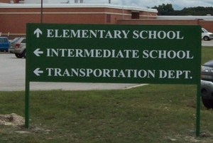 Post and Panel Directory Signs for Schools in Chicago IL