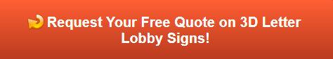 Free quote on 3D Letter Lobby Signs | Glen Ellyn | Oak Brook IL