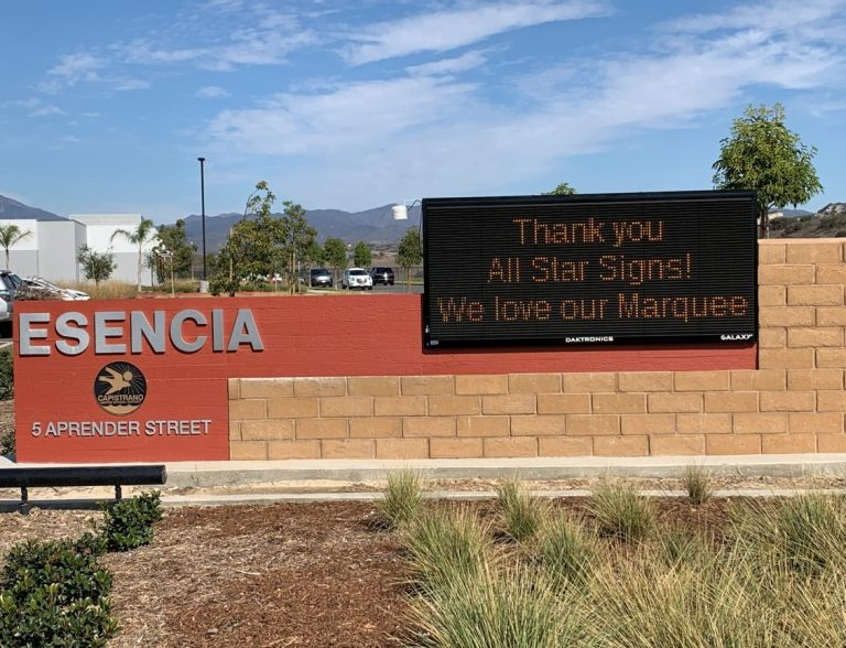 Changeable Message Marquee Signs for Schools in Escondido CA