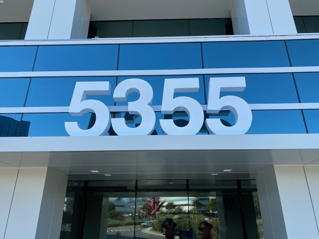 high-rise fabricated address numbers in San Diego CA