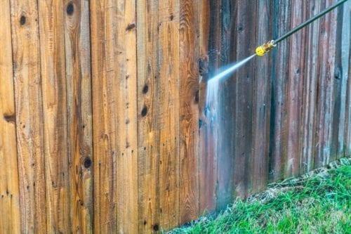 Powerwash Fence