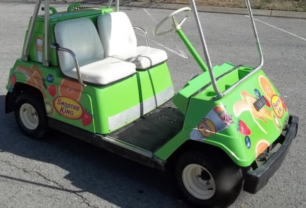 A combination of cut vinyl decals on a vehicle or golf cart can give the appearance of a more expensive partial or full wrap
