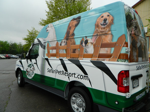 Advertising Van Wrap For Safari Pet Resort In Murfreesboro