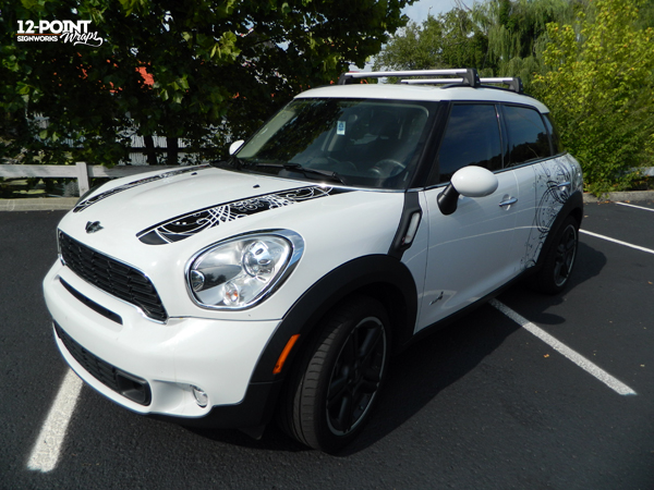 Cut Vinyl Graphics For White Mini Cooper In Franklin Tn