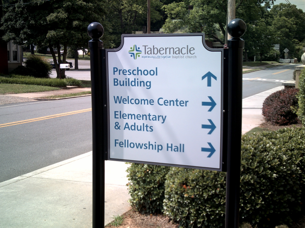 Using Directional Wayfinding Signs At Churches For Guidance Irving Tx