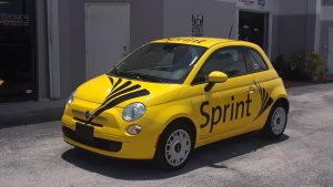 Miami, FL - Custom Fleet Car Wrap for Sprint Corporation