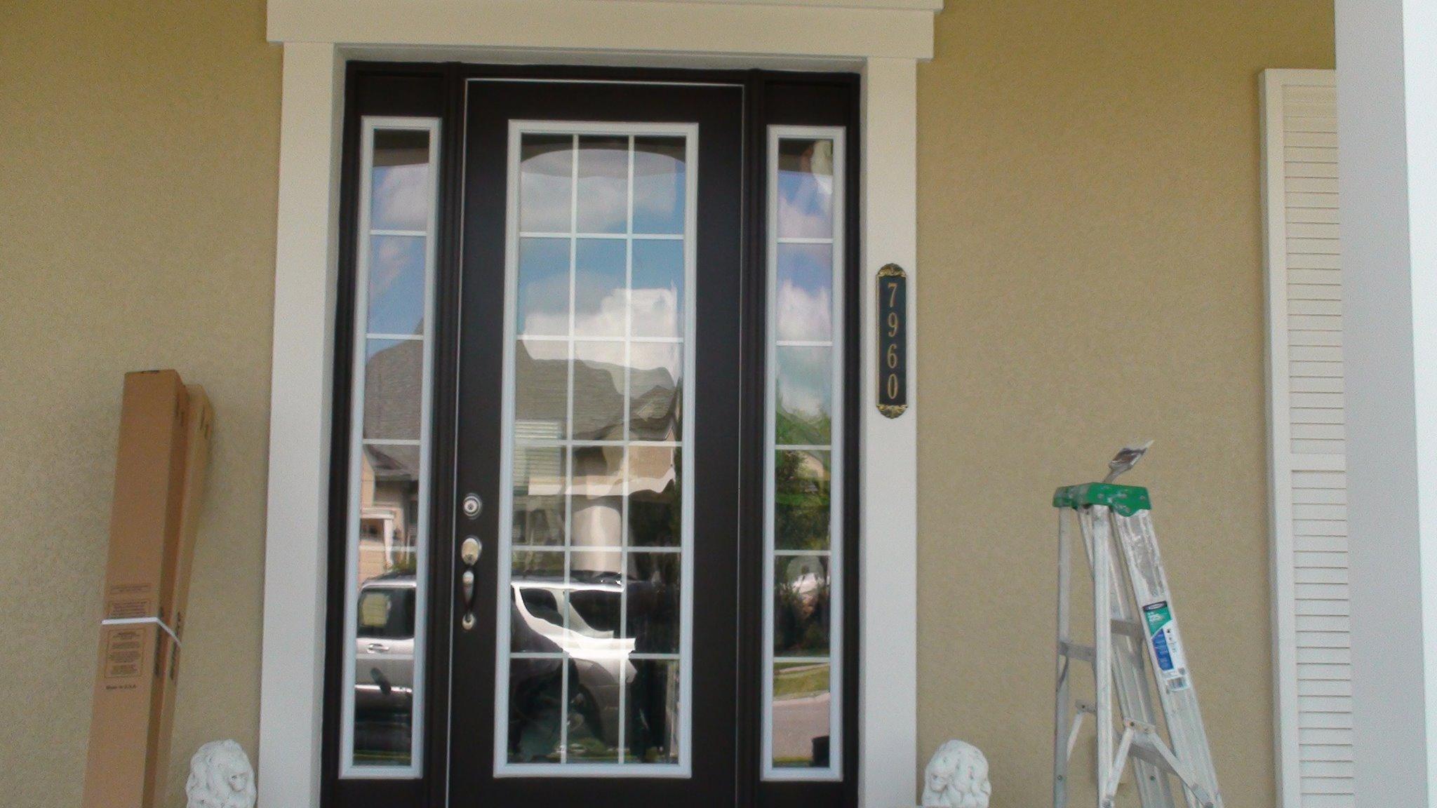 Front door glass tint front door tint cool effect for Home front door tint