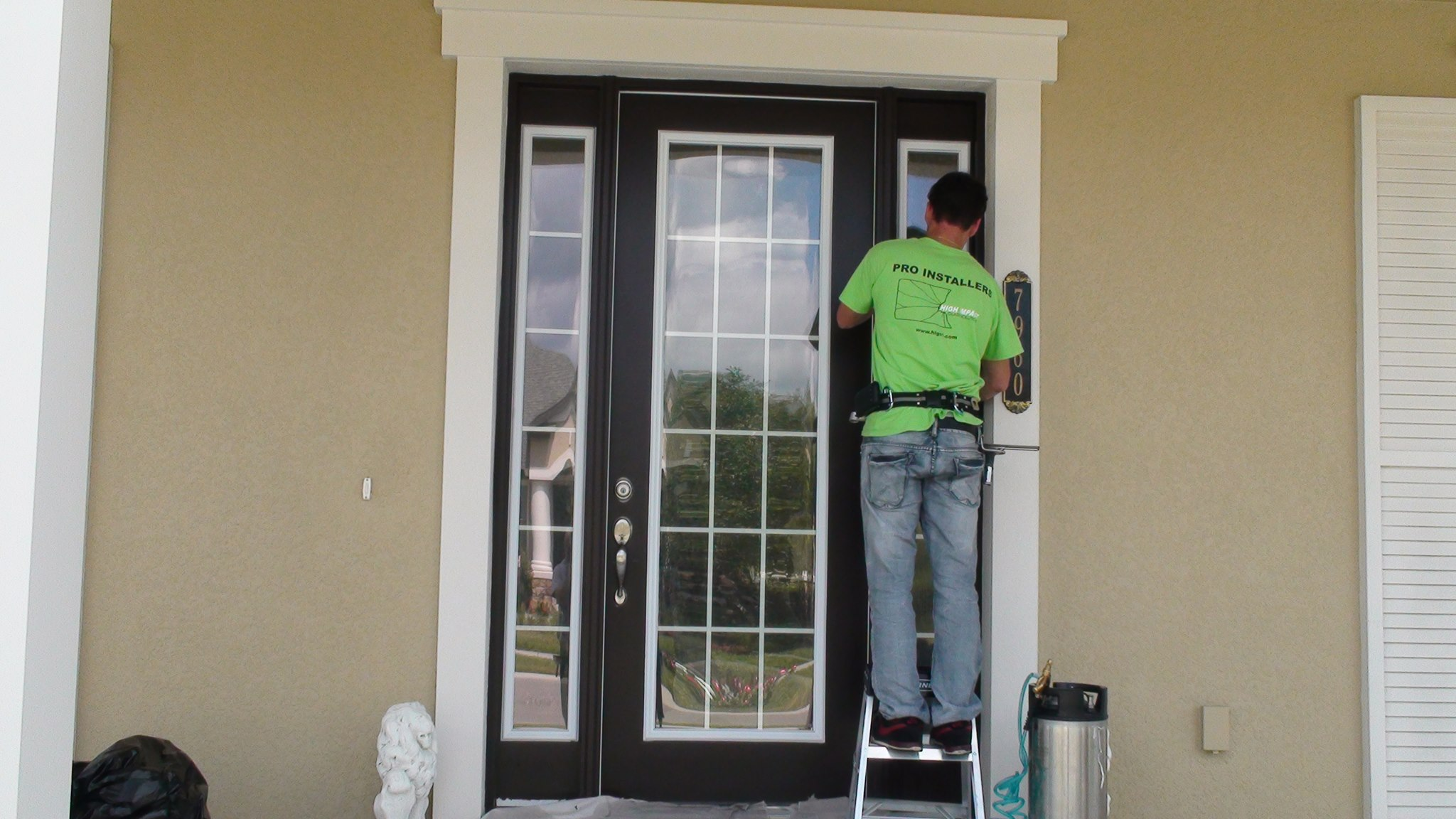 Lasting relief from heat and soaring electric bills for for Home front door tint