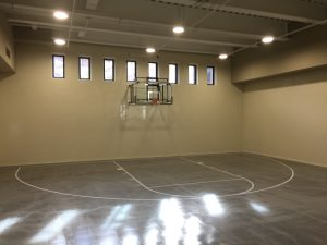Las Vegas Nv Basketball Court Vinyl Install For Lewis K Construction