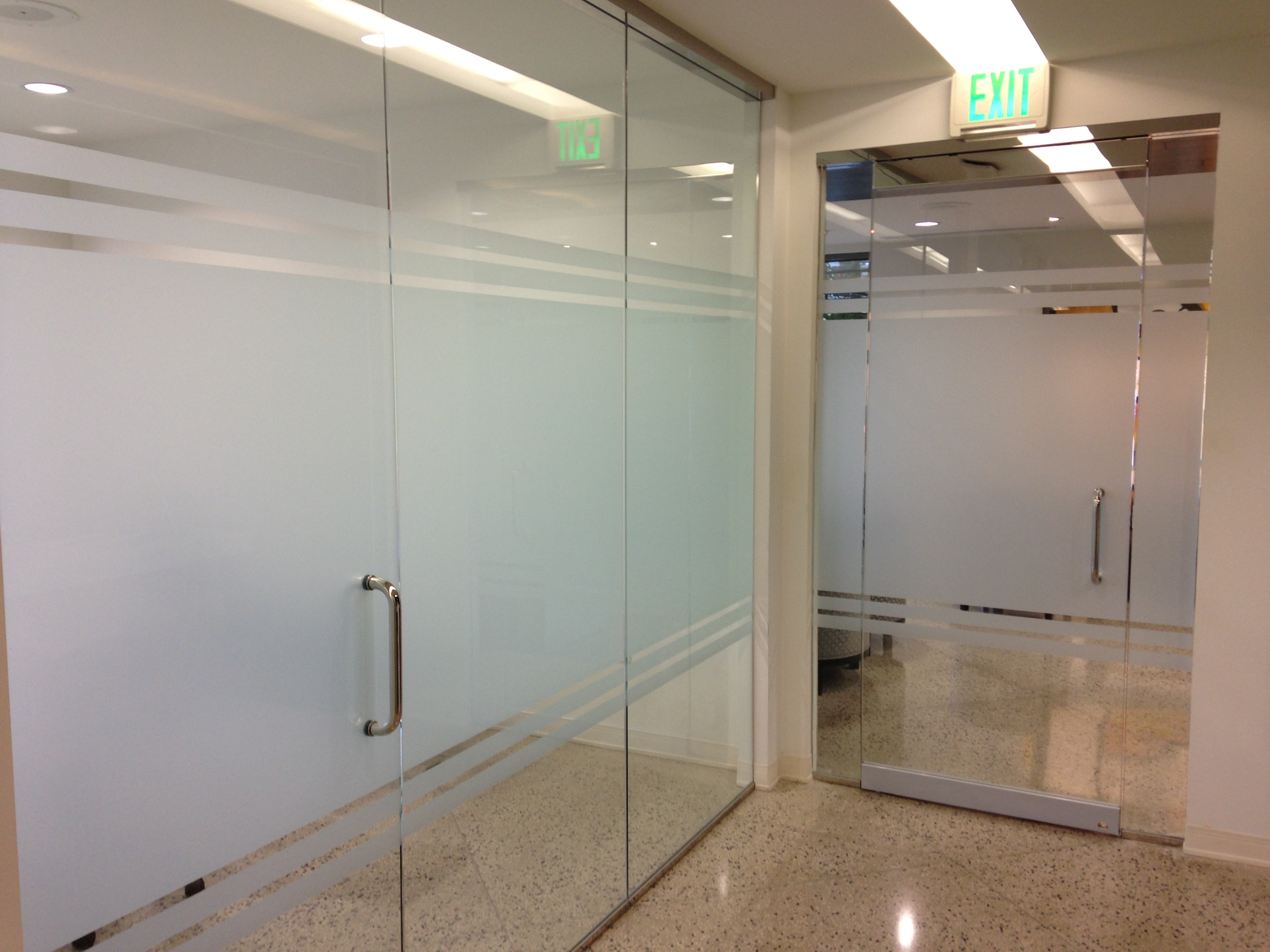 office glass frosting. Decorative Frost Window Film Spruces Up Offices In Dallas TX! Office Glass Frosting F