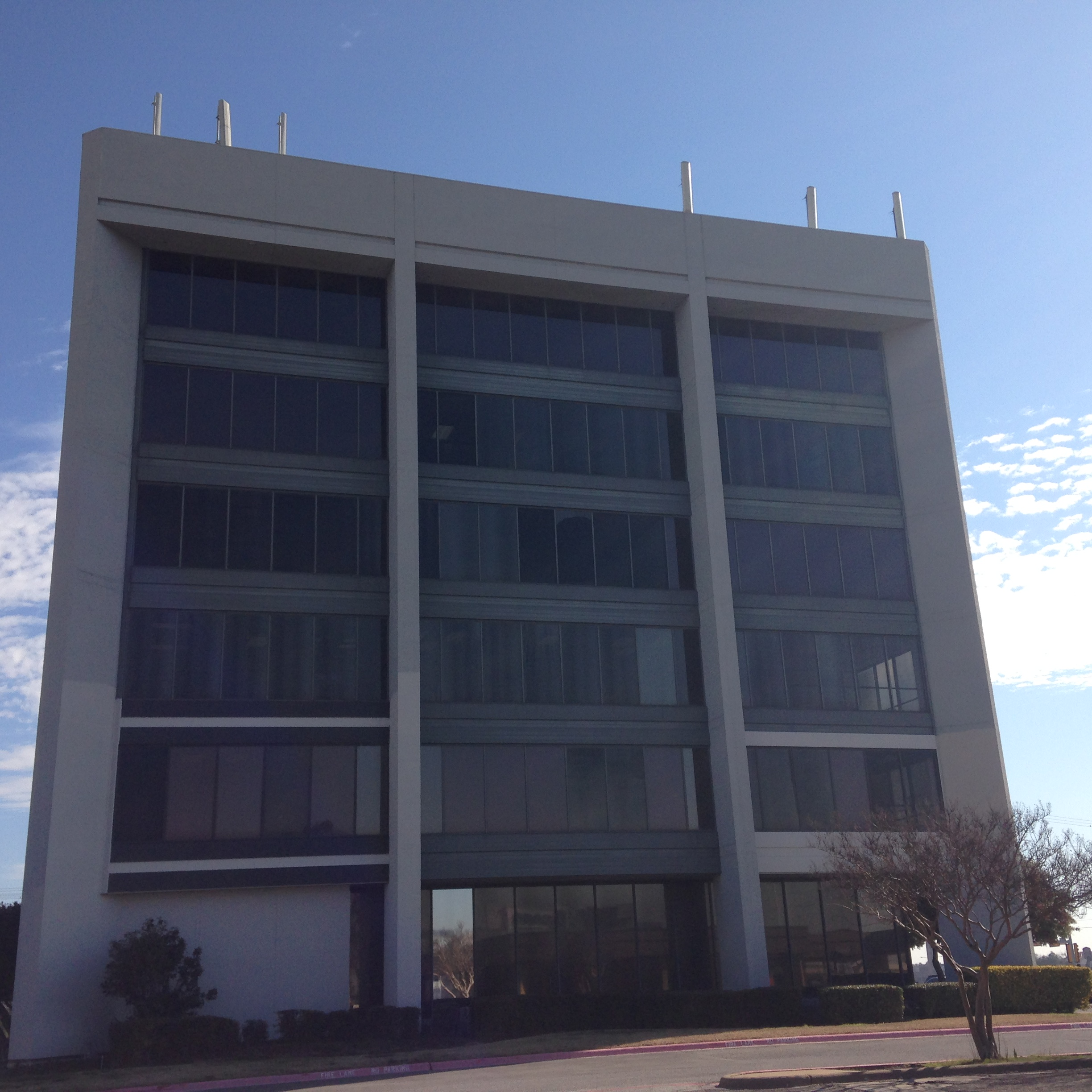 Commercial Office Window Tinting Installation For Midway Tower In Dallas Tx Reduces Glare