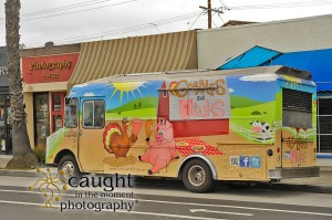food truck in front of photography studio