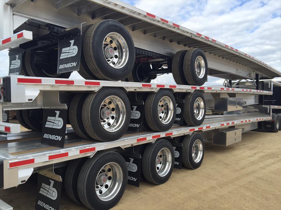 aluminum drop deck semi trailers