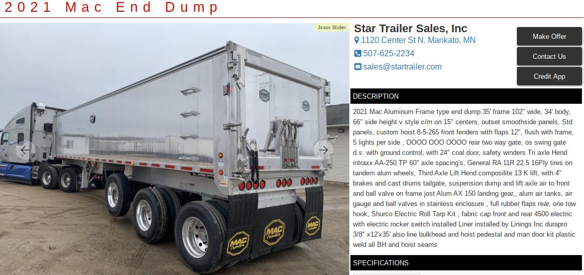 semi trailer for sale ohio