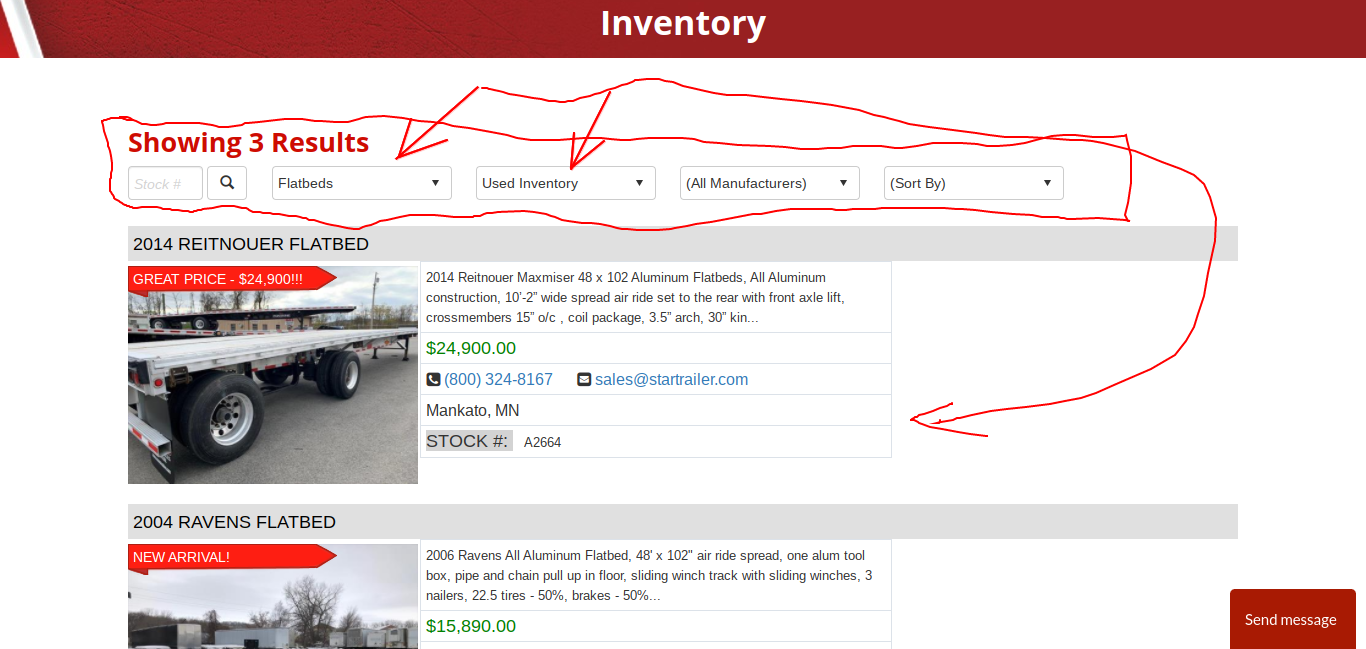 Used Flatbed Semi Trailers MN and ND