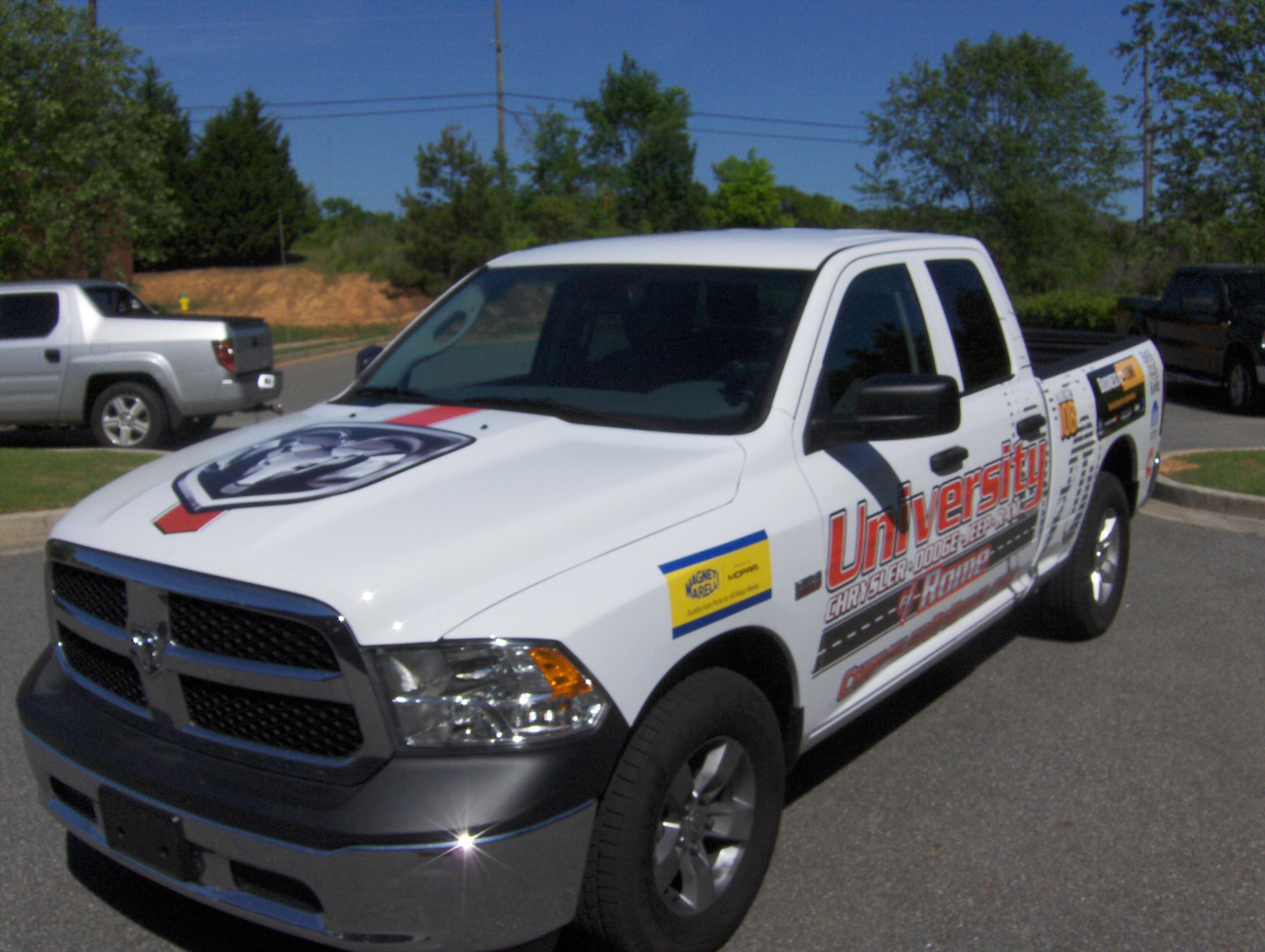 Dodge Ram Promaster >> Custom Truck and Van Wraps in Rome, GA for University ...