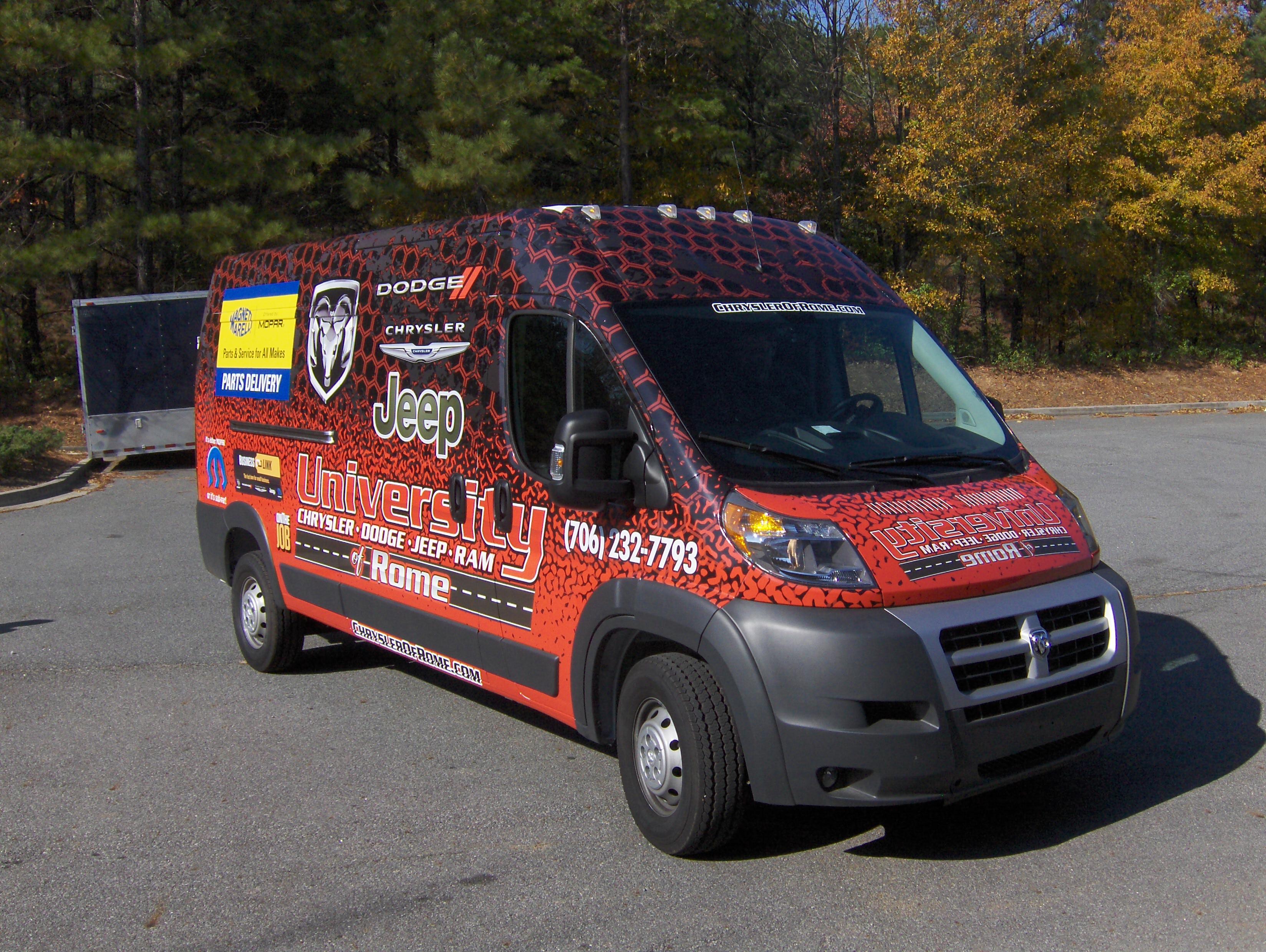 Custom Truck And Van Wraps In Rome Ga For University
