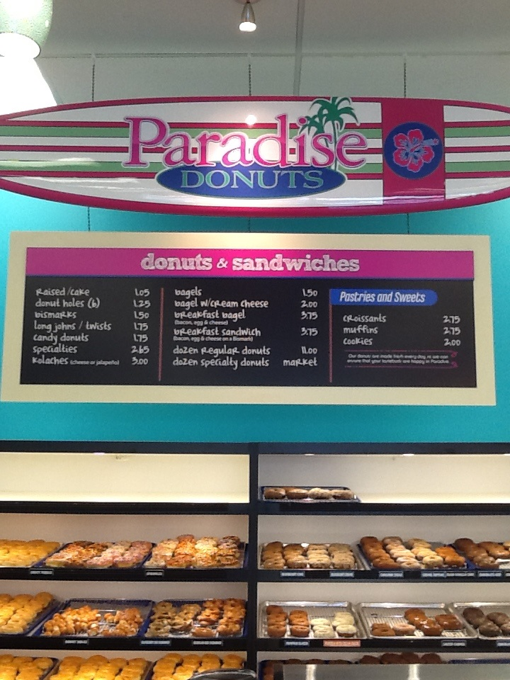 New Menu Boards For Paradise Donuts In Kennesaw Ga Hang