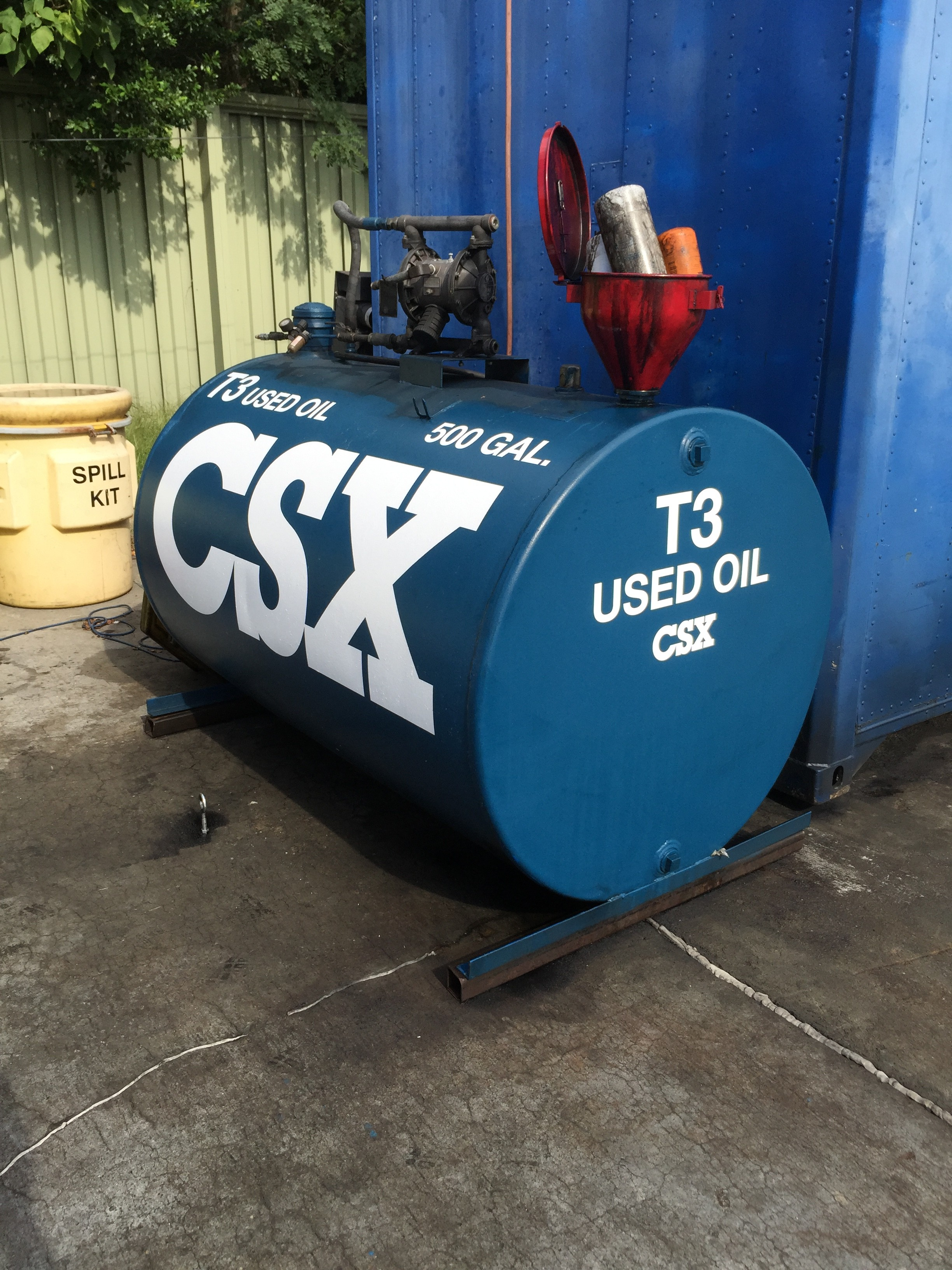 Custom Storage Tank Labels For Csx Corporation S Boulevard