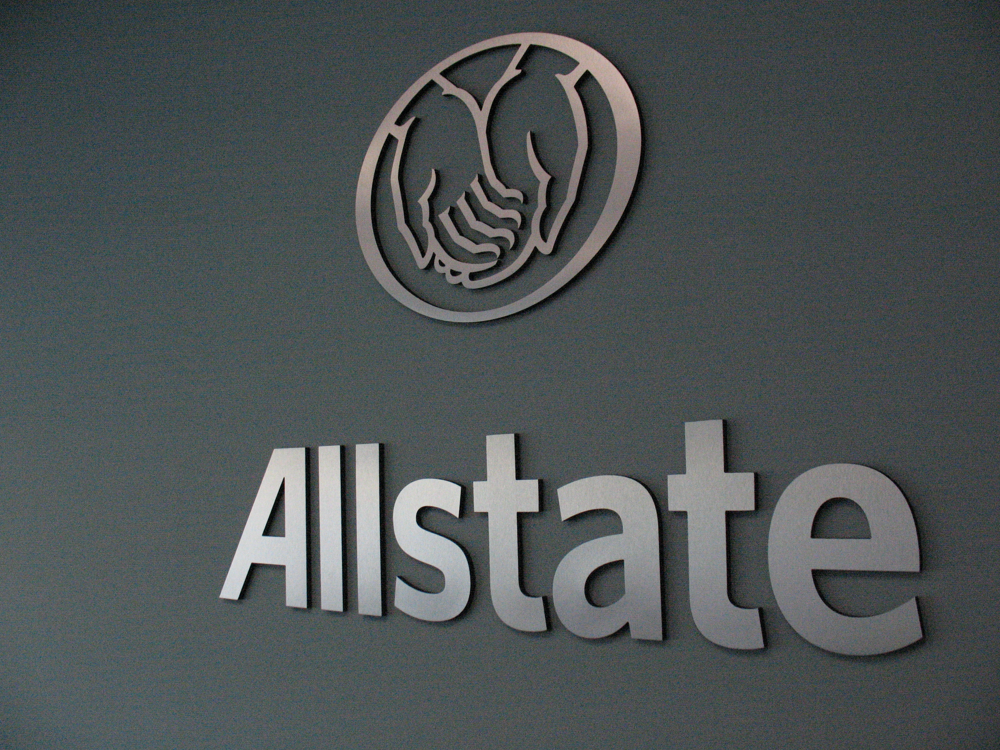 Custom office lobby and reception signs for Allstate Insurance in