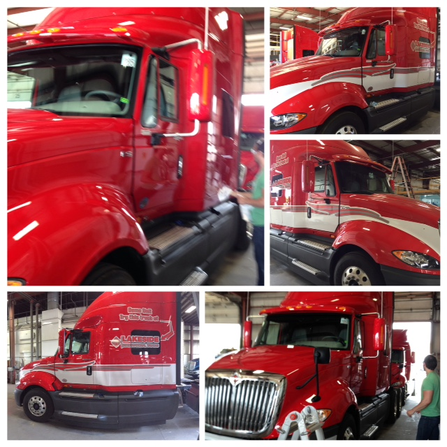 Custom Cut Truck Graphics For A 2015 International Prostar
